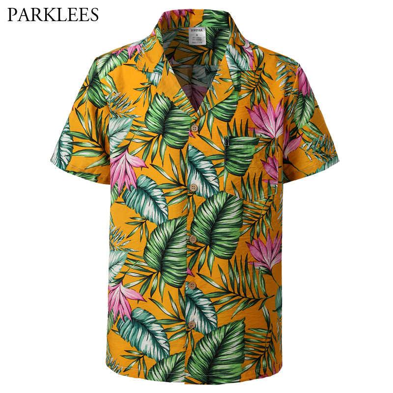 Мужская s хипстерская Повседневная Гавайская Мужская рубашка навыпуск с ярким рисунком вечерние каникулы пляжная, с пуговицами вниз рубашка Мужская Плюс Размер тропическая рубашка мужская