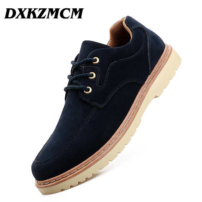 DXKZMCM Men Casual Shoes Male Work   Suede     Leather   Shoes Breathable Tooling Men's Shoes Footwear