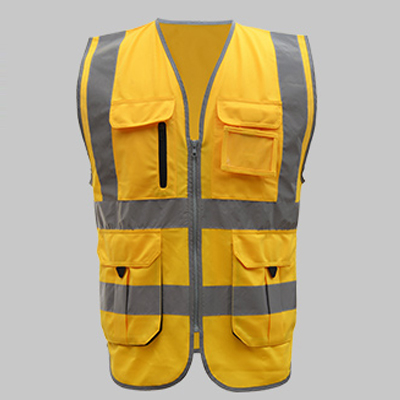 Men wome High visibility safety vest work vest workwear safety red reflective vest construction vest with logo free shipping