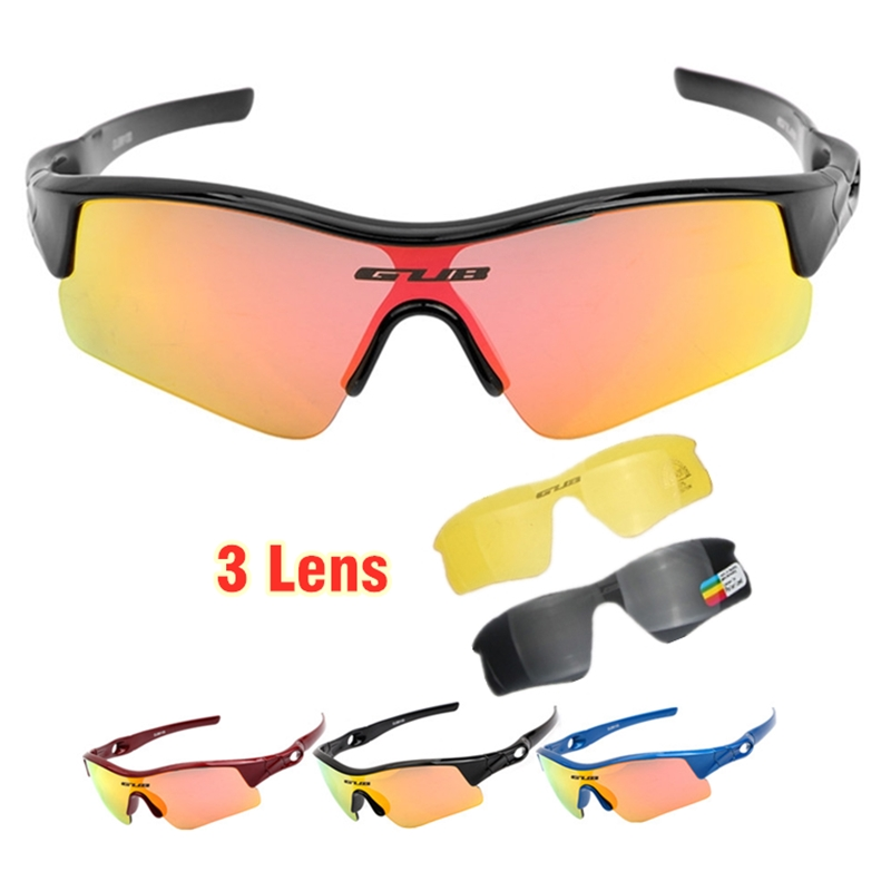 3 Lens Kids Bicycle Sunglasses Children Riding Balance Bike Polarized Eyewear Sports Pro Cycling Goggles UV Protection Glasses