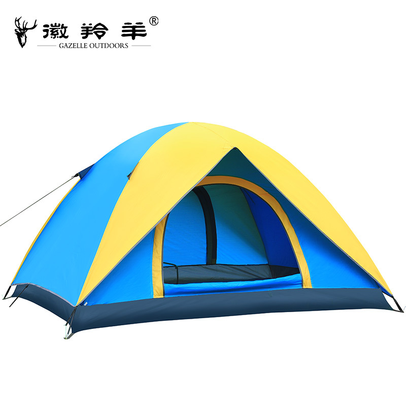 The new lakeside camp emblem antelope outdoor tent 3-4person bunk UV ventilation camping tent high quality outdoor 2 person camping tent double layer aluminum rod ultralight tent with snow skirt oneroad windsnow 2 plus