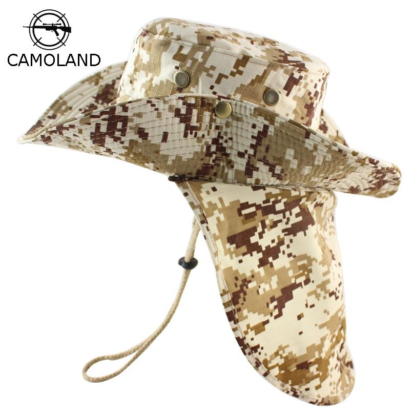 Summer Hiking Fishing Bucket Boonie Hat UV Sun Protection Bush Cap Wide Brim