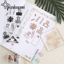 1pcs Transparency Silica Gel Walking Stick Paper Clip Rubber Seal For DIY Scrapbooking Clear Photo Album Decorative(China)