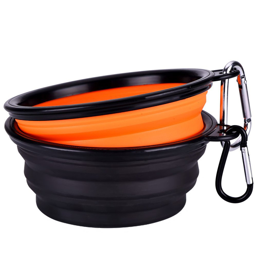 Portable Dog Water Bowls Bowl For Large Breed Dogs Premium: LHBL Collapsible Travel Silicone Dog Bowl Portable Pet