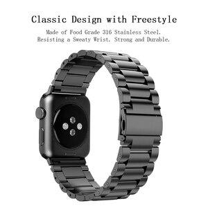 Image 2 - HOCO Edelstahl Armband Quick Release Pins für Apple uhr 44 mm link armband Ersatz Armband für iwatch Serise 4