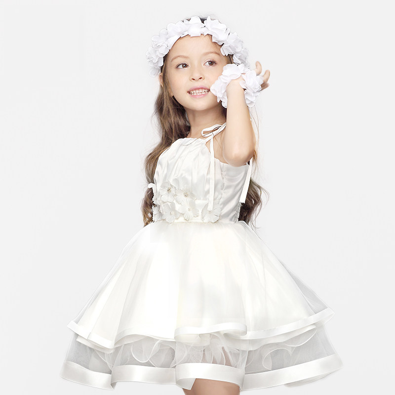 2016 Summer Party Dresses Halloween Costumes Sundress For 3-12 Years Old Girls Cute Baby Party Princess Dress Boutique Clothing summer dresses for girls party dress 100% cotton summer cool and refreshing the harness green flowered dress 1 5years old
