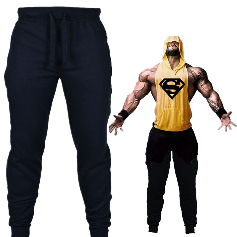 Men Fitness Workout Jogging Pants Casual Striped Gyms Trousers Sport Pencil Pants Mens Sweatpants Joggers Black Running Tights