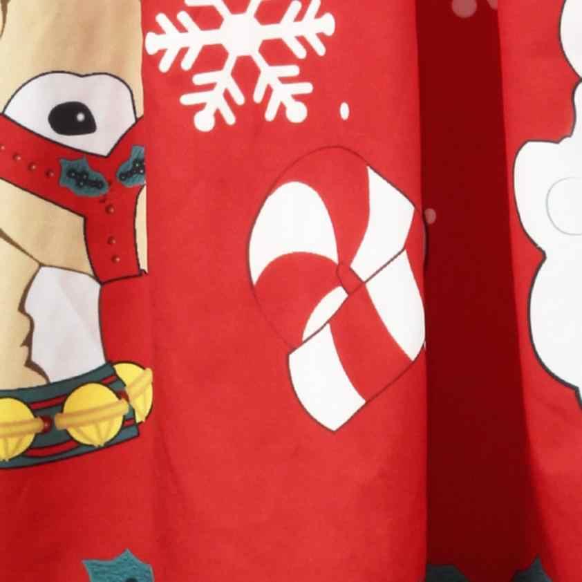21ebb1cac94d8 Feitong 2019 New Women's Christmas Tutu Skirt Vintage Sexy 3D Santa  Snowflake Printed Skirts Female faldas mujer Drop Shipping