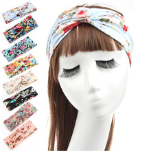 Fashion Women Beauty Yoga Elastic Turban Floral Twisted Knotted Hair Band Headband nz17