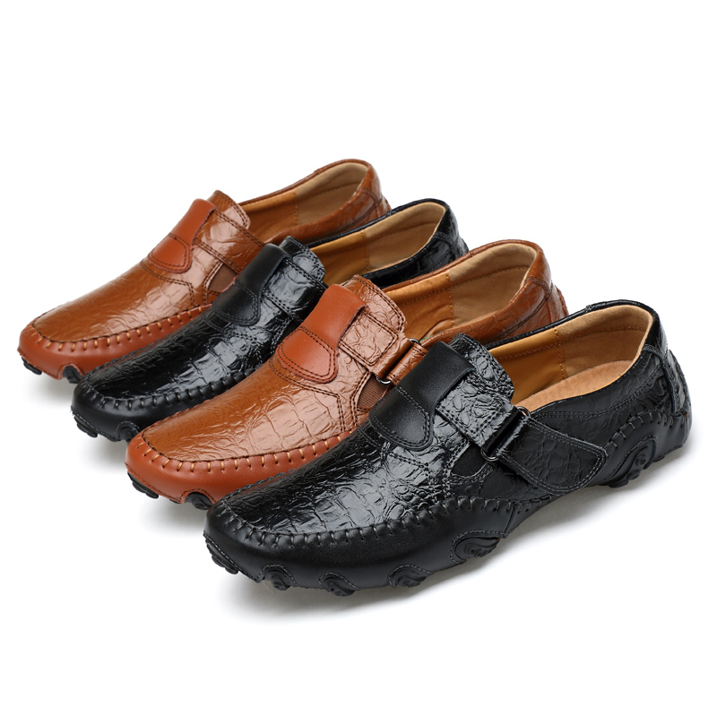 Men octopus like leather loafer Men fur slip on casual shoes Antimicrobial lining Office wear loafer Winter lightweight outsole in Men 39 s Casual Shoes from Shoes