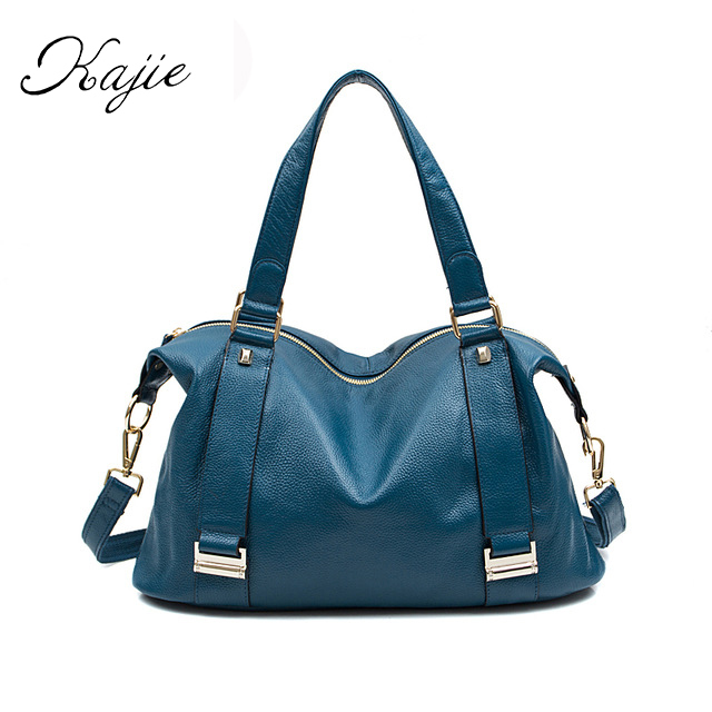 Kajie 2018 Fashion Genuine Leather Women Shoulder Bags High Quality Female Bag Large Capacity Girl Handbags Designer Ladies Bag спиннинг штекерный swd crocodile 2 4 м 100 250 г