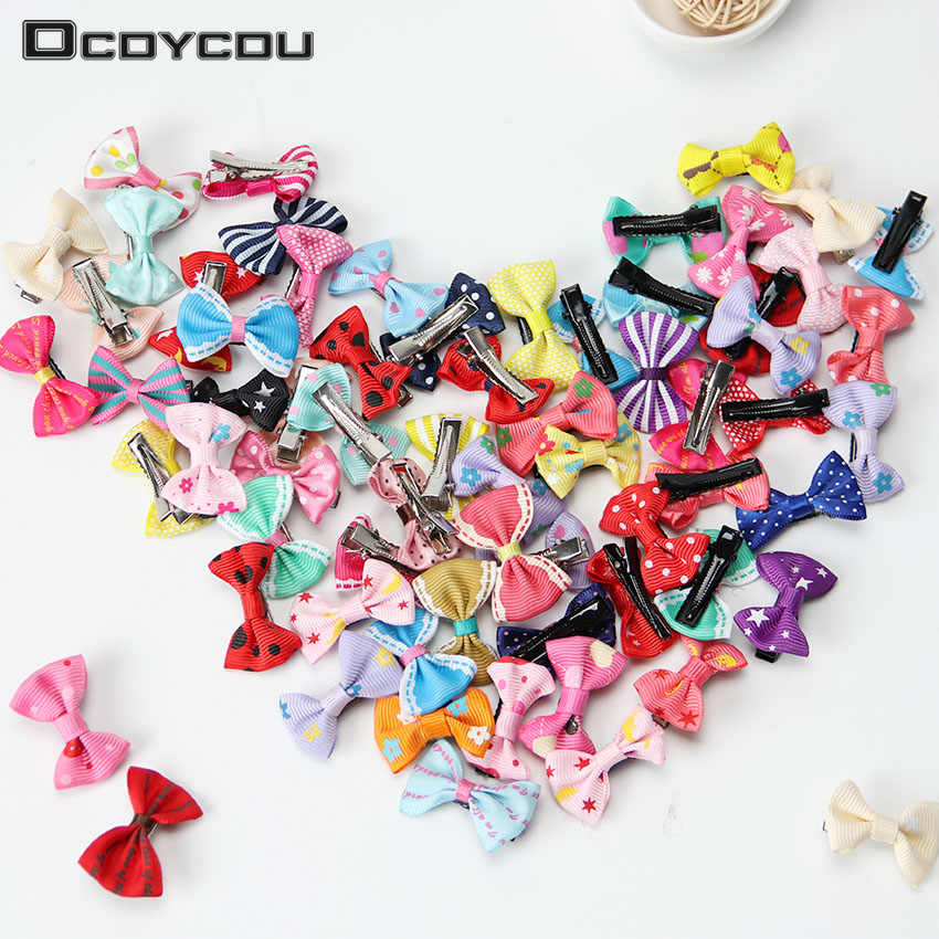 20PCS Colorful Bow Hairpins Hair Barrettes Children Accessories Cute Baby Girls Headwear Hair Clip