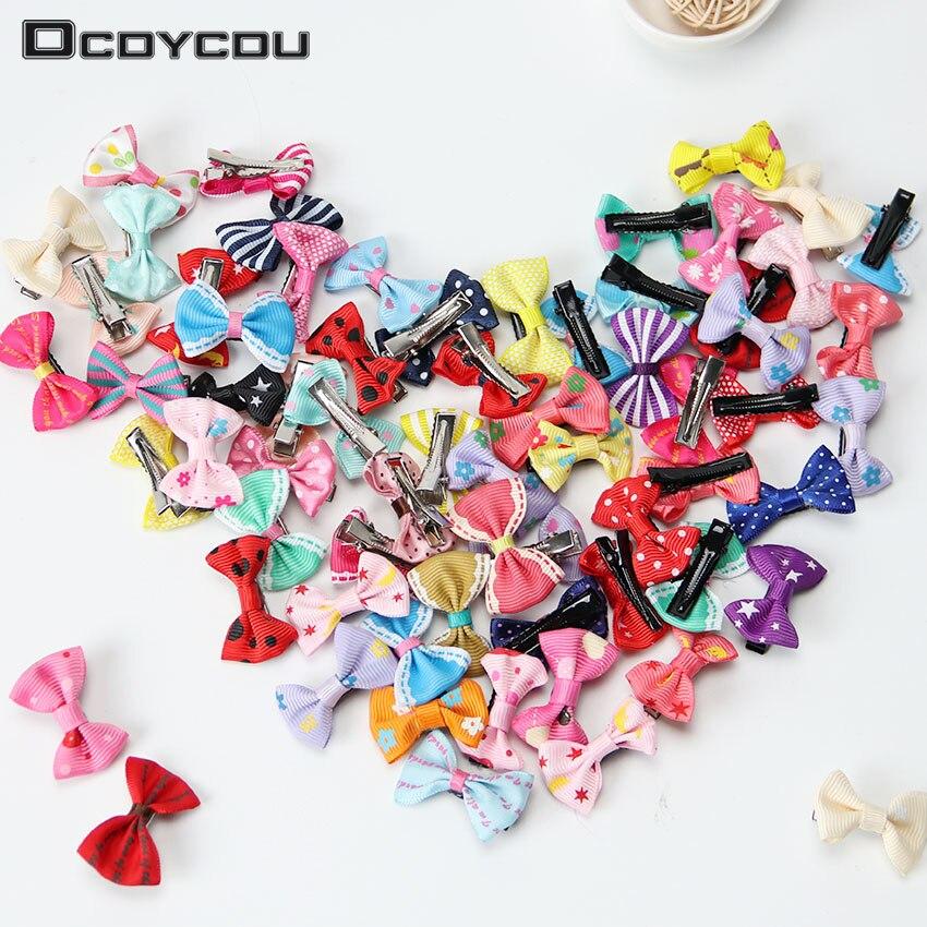 20PCS Colorful Bow Hairpins Hair Barrettes Children Accessories Cute Baby Girls Headwear Hair Clip