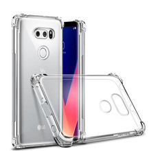 For LG V20 V30 G6 Q6 Q8 K4 K8 K10 2017 Air Cushion Slim Soft Case Clear Crystal Silicone TPU Gel Protective Cover Capa Coque(China)