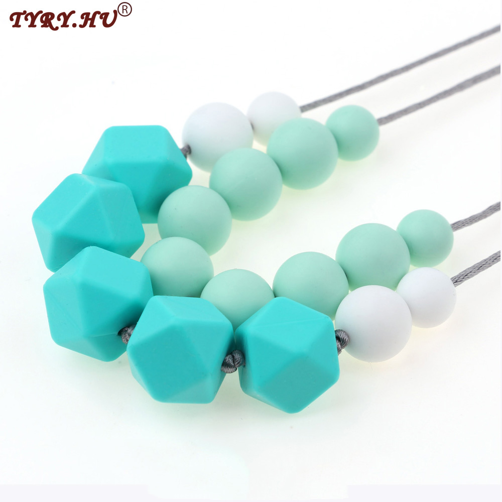 Safe Star Baby Chewy Teething Silicone Beads DIY Necklace Teether Jewelry Making