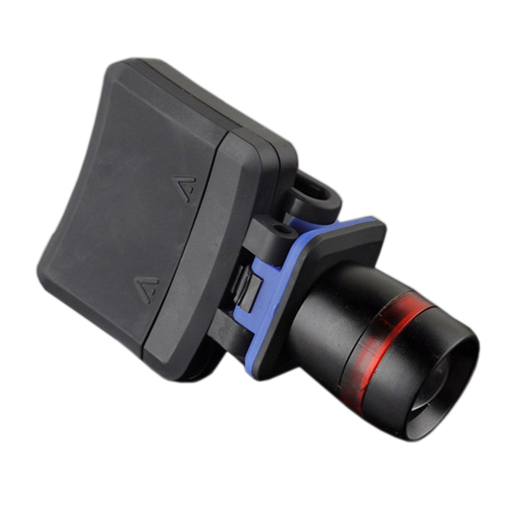 XPE LED 120 Lumen 3 modes waterproof zoomable Clip - on Cap Hat Light flashlight black
