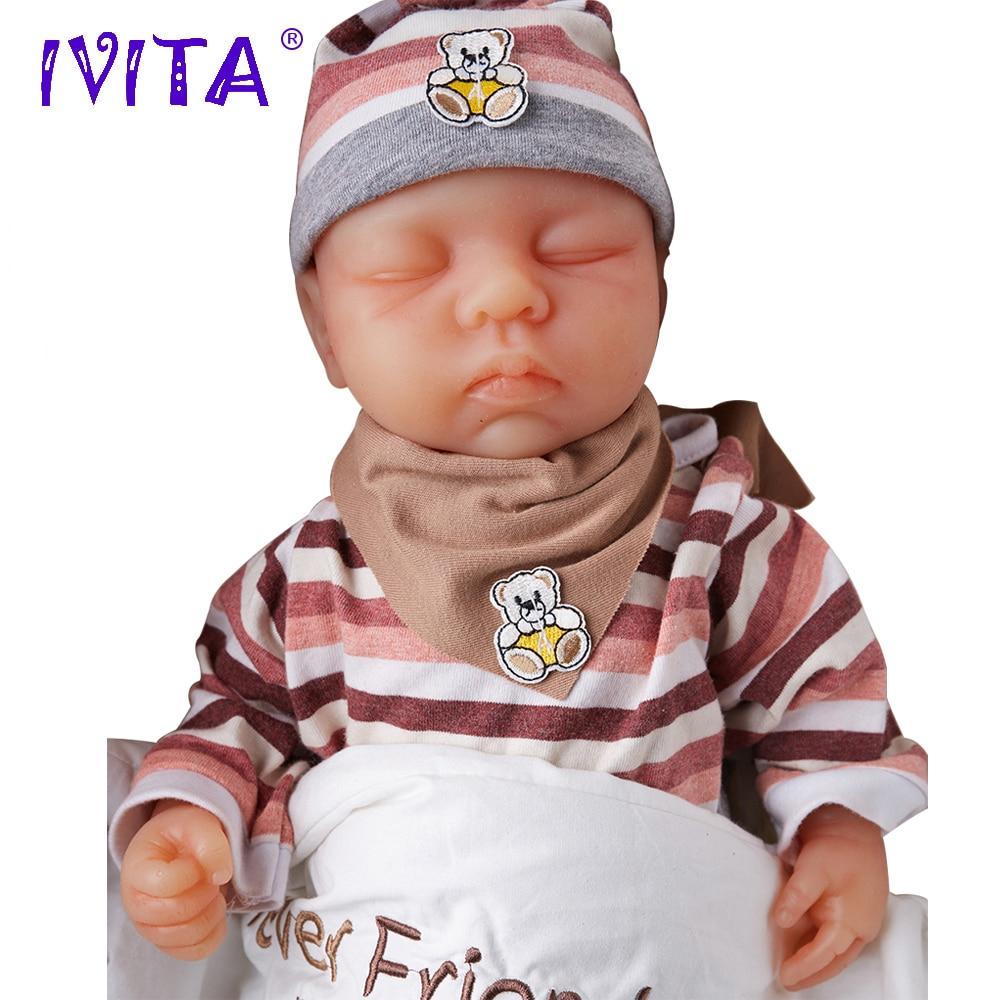 IVITA WG1507 46cm 3.2kg Djevojka očiju zatvorene visoke kvalitete - Lutke i pribor - Foto 3