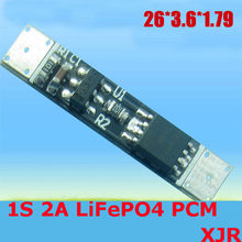 Circuit de protection de batterie de 1 S 2A 3.6 V LiFePO4 BMS/PCM/PCB pour 1 paquet de pile de 18650(China)