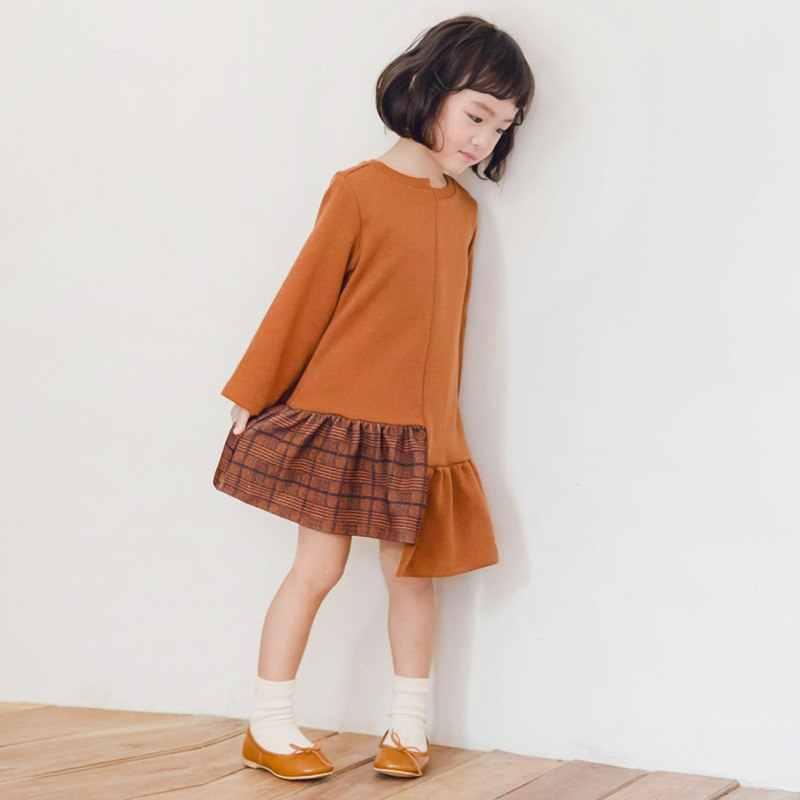 895515702e95d3e Платье для девочек, коллекция 2018 года, Осень-зима, теплые платья для  девочек