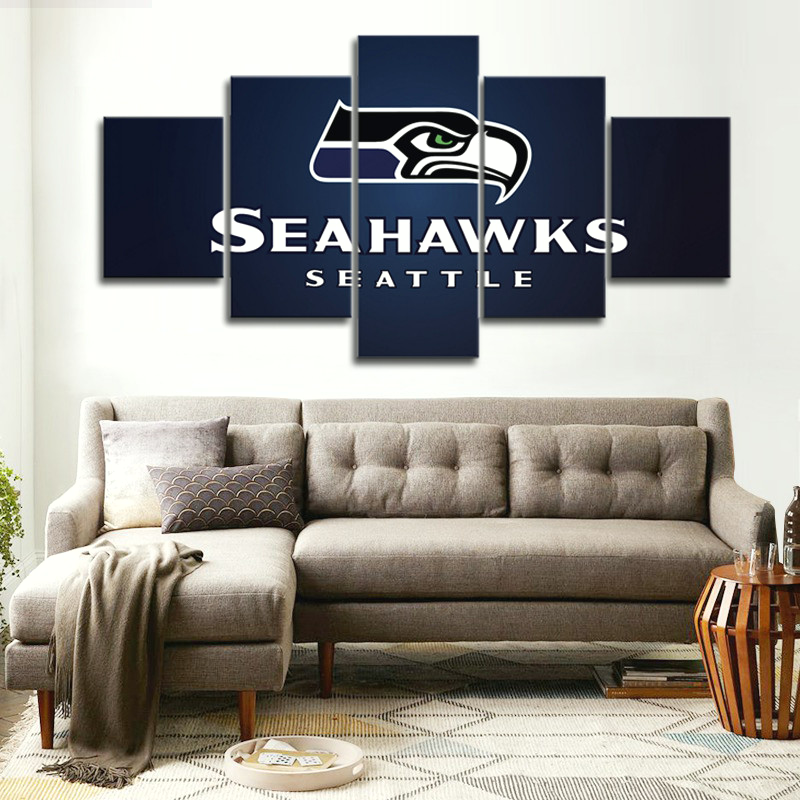Seattle Seahawks Canvas Painting Wall Art Pieces Prints Home Decor Picture  Panels Poster For Linving With Seattle Home Decor.
