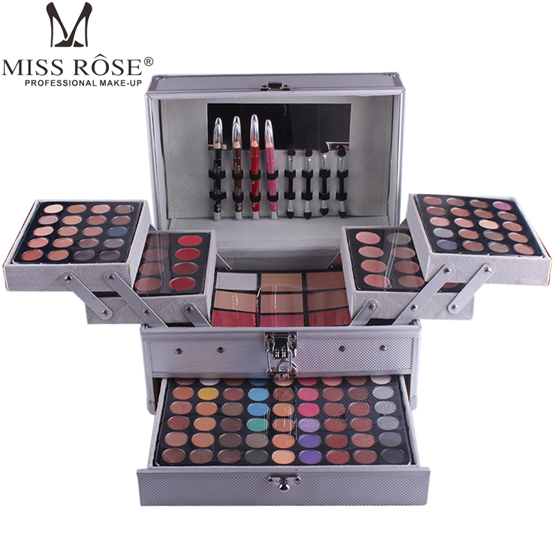 Face Eye Makeup Kits Shimmer Matte Glitter Eyeshadow Makeup Set Box Lipstick Powder Blush Cosmetics Set with Box Makeup Tools-in Eye Shadow from Beauty & Health    1
