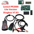 DHL Free Ship V7.83 Lexia3 PP2000 V48/V25 Lexia 3 Diagbox 7.83 Lexia-3 PP2000 OBD2 Diagnostic Tool With Firmware 921815C Chip