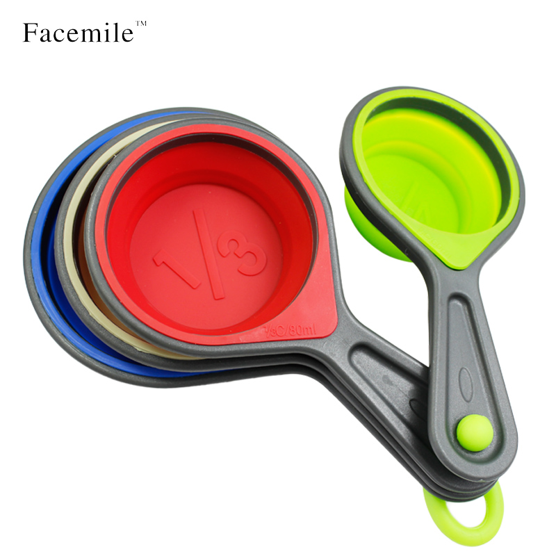 Silicone Collapsible Measuring Cups Dry Liquid Ings Kitchen Baking Cooking Accessories Tools Spoons 52042 In Pastry From