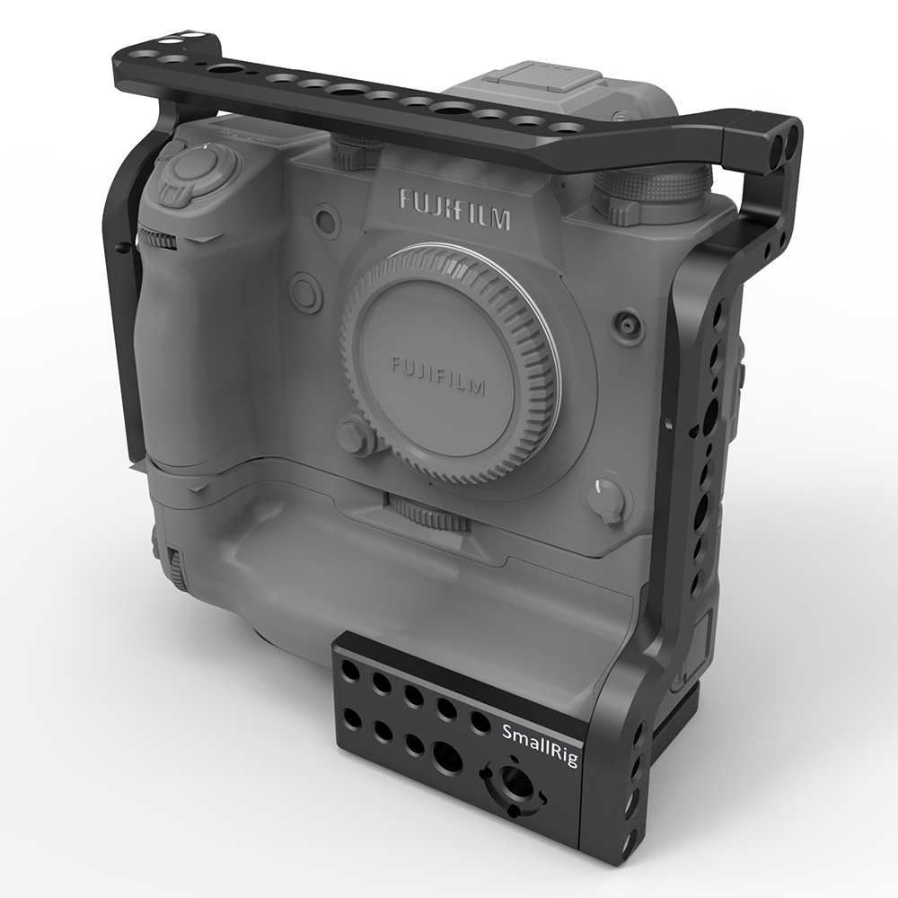 SmallRig Camera Cage for Fujifilm X-H1 Camera with Battery Grip With Nato Rial Built-in 2124