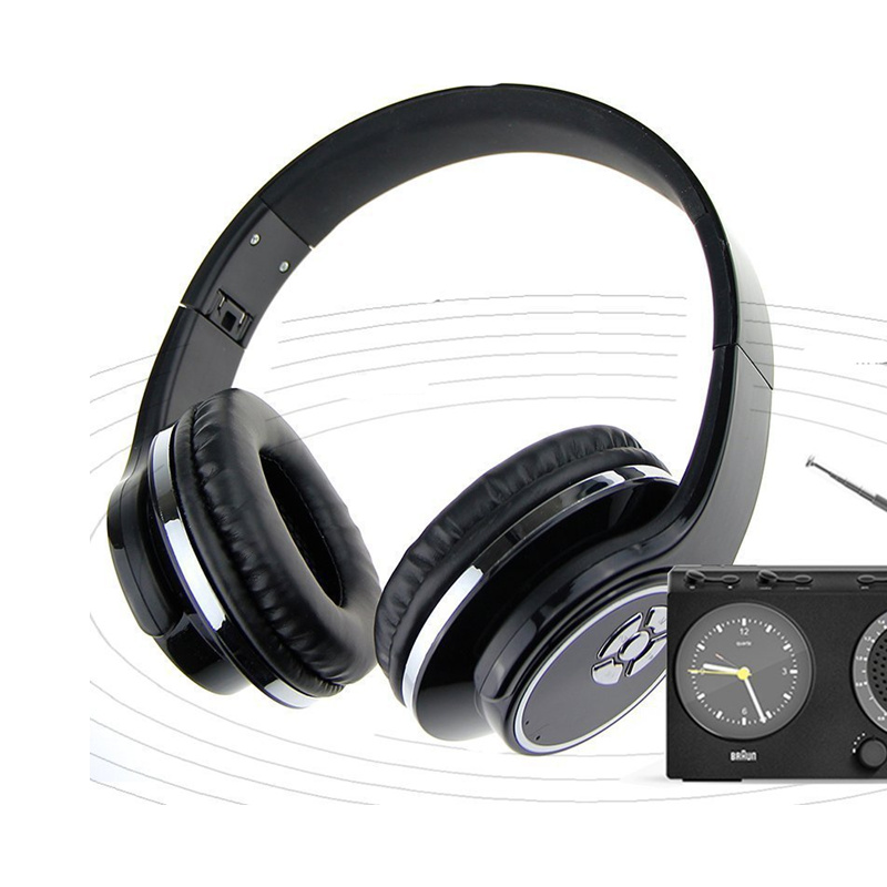 Makescc 2 in 1 Bluetooth Speaker + Headphone Dual Use Speaker with Microphone Foldable FM Radio Music MP3 MP4 Player