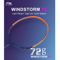 Li Ning WindStorm 72 Professional Badminton Racket Light Weight High Tension LiNing Single Sport Rackets AYPM192 EOND18