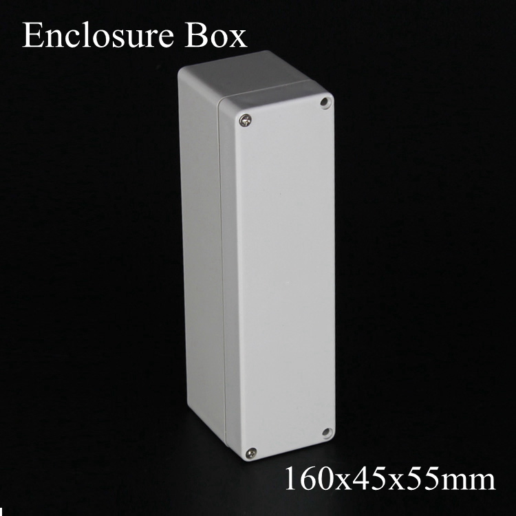 (1 piece/lot) 160*45*55mm Grey ABS Plastic IP65 Waterproof Enclosure PVC Junction Box Electronic Project Instrument Case waterproof abs plastic electronic box white case 6 size