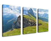 Large Landscape Painting Artwork Mountain Cliff Artwork Canvas Art Nature Painting Framed Ready to Hang Drop shipping