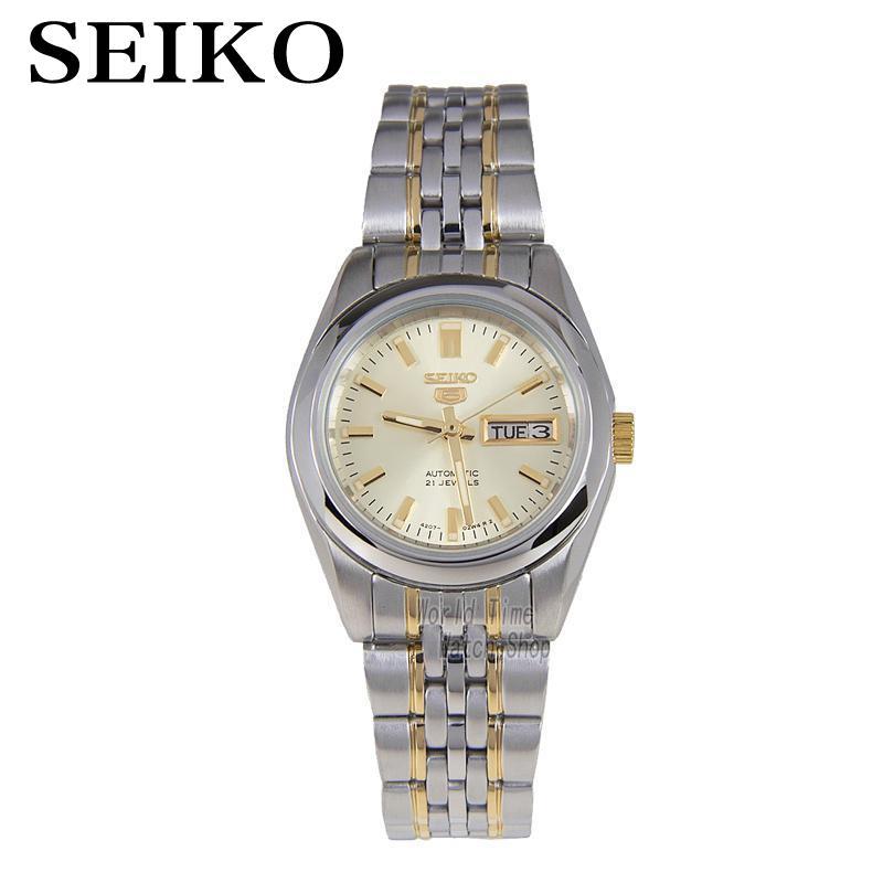 SEIKO Watch shield 5 simple gold metal strap automatic mechanical watch female watch SYMA37K1 seiko 5 snke53k1s