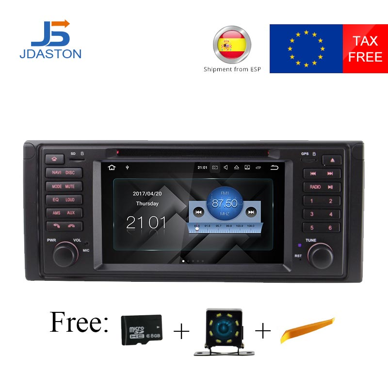 цены JDASTON 1 DIN Android 7.1 Car Radio For BMW E39 M5 E53 X5 Car GPS Stereo Multimedia headunit DVD CD Video Player Stereo WIFI RDS