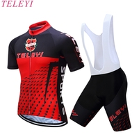 Ropa Ciclismo Breathable Quick Dry Cycling Jersey BIB Short Gel Pad 2017 Pro Cycling Clothing Bike