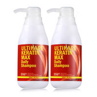 2pcs Hot Set New Hair Smooth and Shine Products 300ML Keratin Daily Shampoo After Straighten Hair Free Shipping