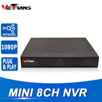 Mini NVR IP 8CH 1080 P Onvif Plug And Play HDMI sortie Réseau Enregistreur Vidéo 8 Canaux 1080 P Réseau de Surveillance Vidéo enregistreur