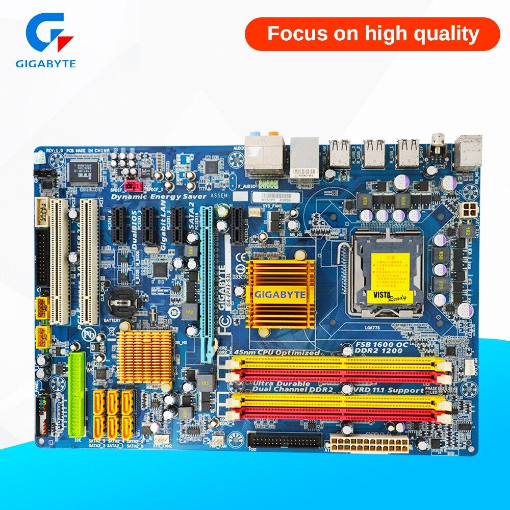 Gigabyte GA-EP43-S3L Desktop Motherboard EP43-S3L P43 LGA 775 DDR2 16G SATA2 USB2.0 ATX gigabyte ga ep45 dq6 original used desktop motherboard ep45 dq6 p45 lga 775 ddr3 16g sata2 usb2 0 atx
