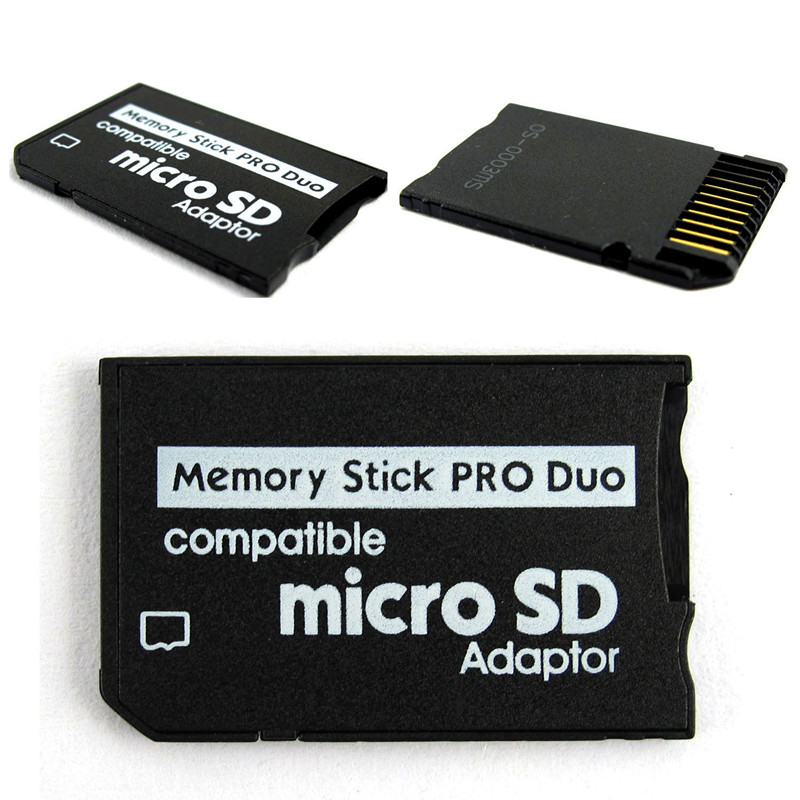 Micro SD SDHC TF To Memory Stick MS Pro Duo Card Adapter Converter Card Case For PSP 1000 2000 3000