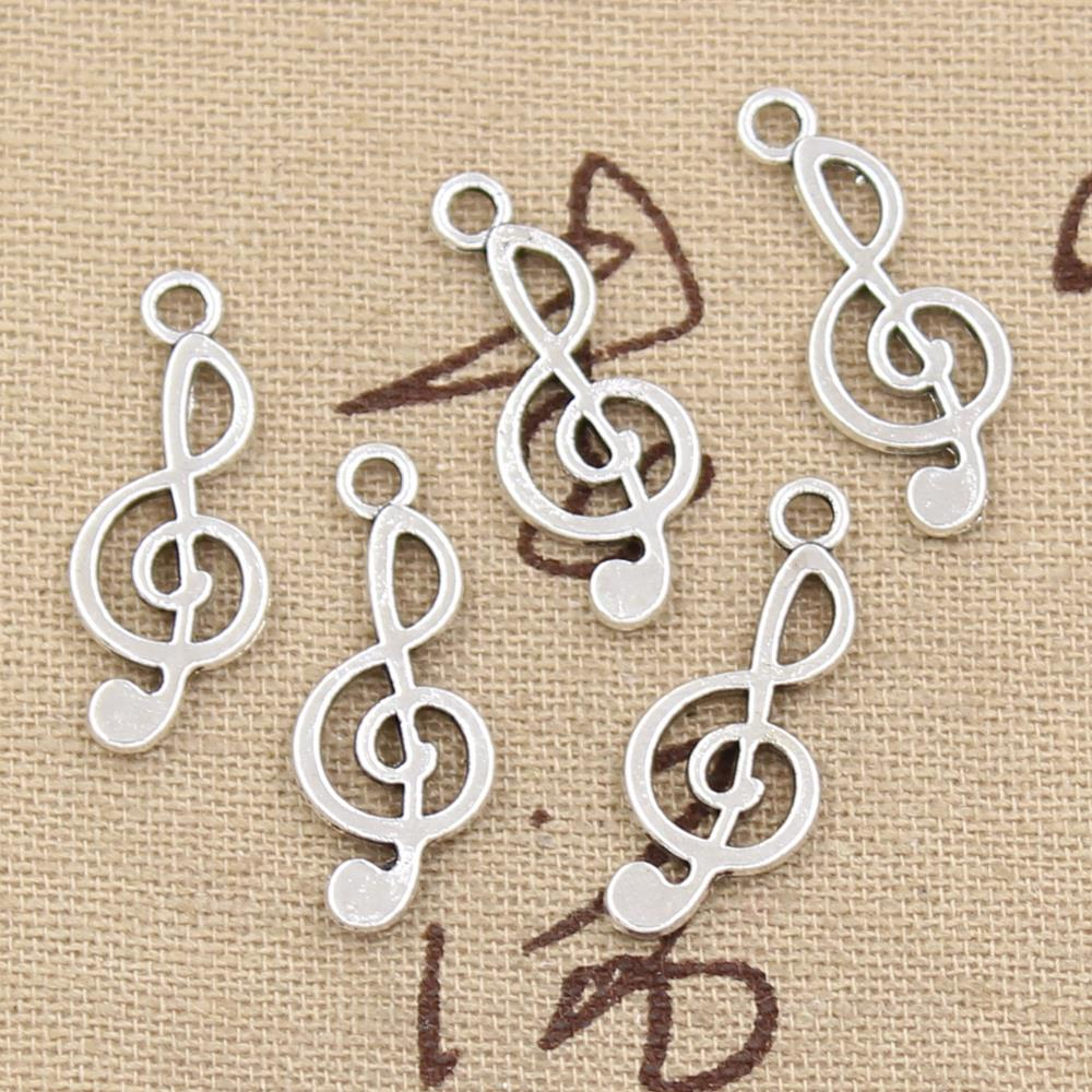 99Cents 12pcs Charms musical note 26*10mm Antique Making pendant fit,Vintage Tibetan Silver,DIY bracelet necklace