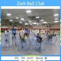 Бесплатная доставка 5 шт. 1.5 м Размеры 1.0 мм ТПУ пузырь Футбол мяч гигантский человека Футбол пузырь Футбол