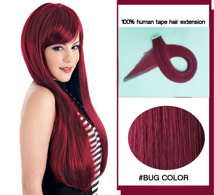 7a Tape Hair Extensions Human Hair Tape Extensions Adhesive Tape In
