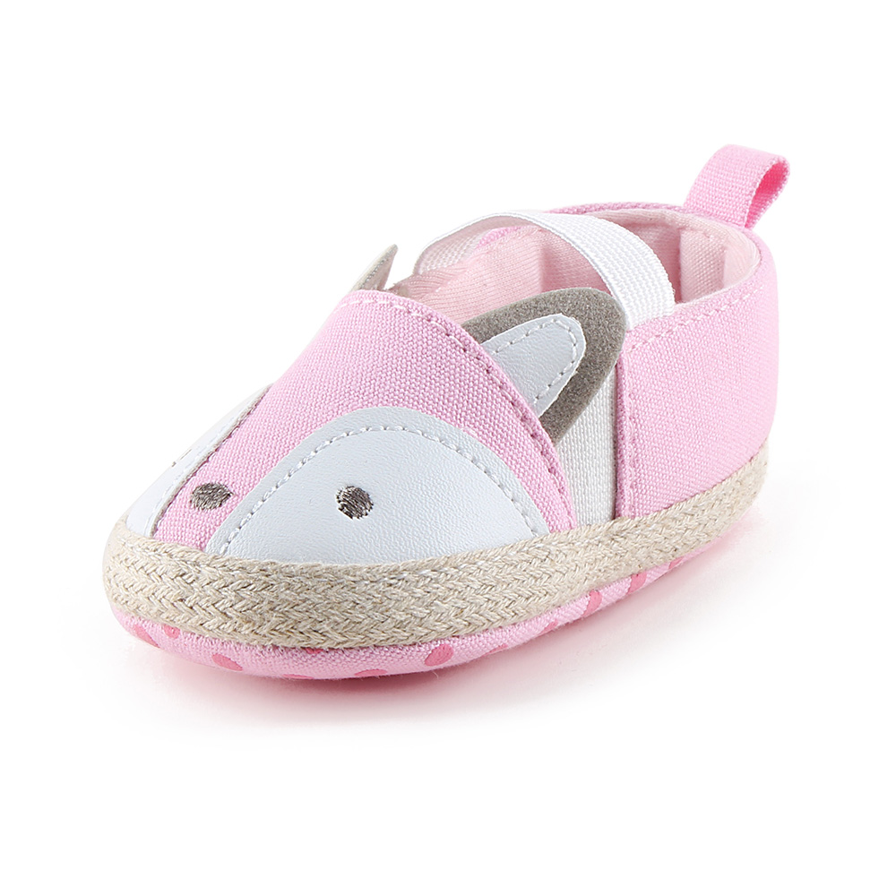 Delebao New Design Prewalkers Baby Girl Shoes Tricolor Fox Partten Slip-on Baby Casual Shoes for 0-18 Months