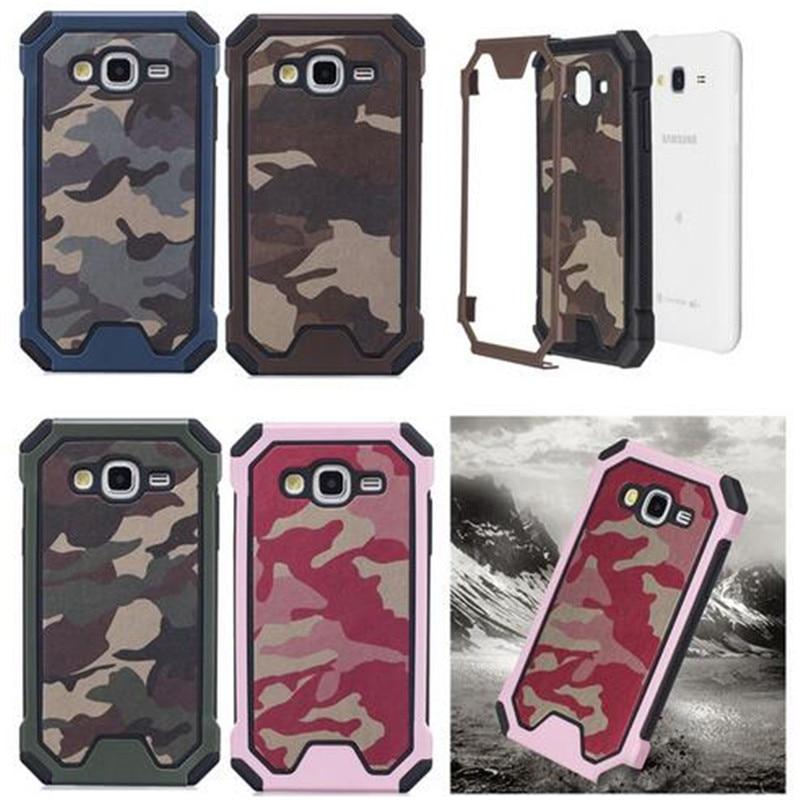 Army Camo Camouflage Pattern Cover Plastic + Soft TPU Armor Protective Case For Samsung Galaxy 2016 J3 J310 / J5 J510 / J7 J710