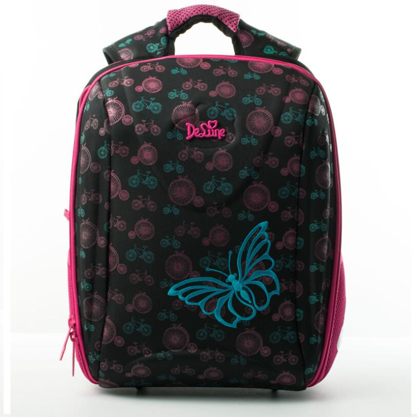 Детская Delune школьная сумка большая емкость школьный рюкзак Медведь с принтом «Сова» ортопедические тиснением девушки рюкзак 3-5 класс студе...