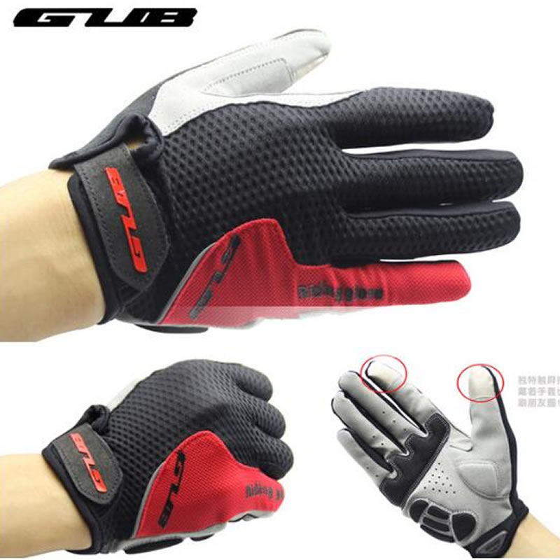 GUB Touch Screen Full Finger Cycling Gloves Unisex Outdoor Sports Riding Bike Bicycle shockproof Gloves Winter Warm Gloves