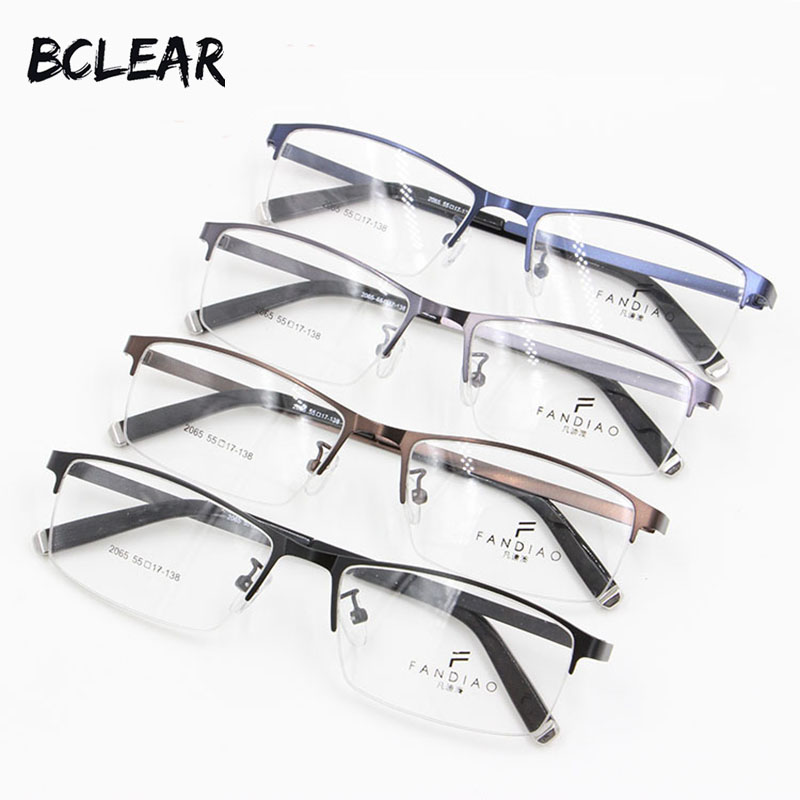 BCLEAR Super thin light alloy metal men optical frame picture temple most popular fashion eyeglasses spectacle frame 2017 hot