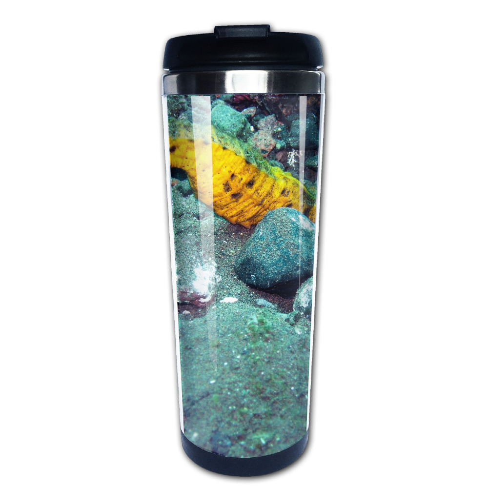 The seahorse hidden in stone coffee mug travel car tazas stainless ...