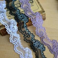 South Korea imported lace accessories clothing lace embroidered lace mesh bottom width 3cm