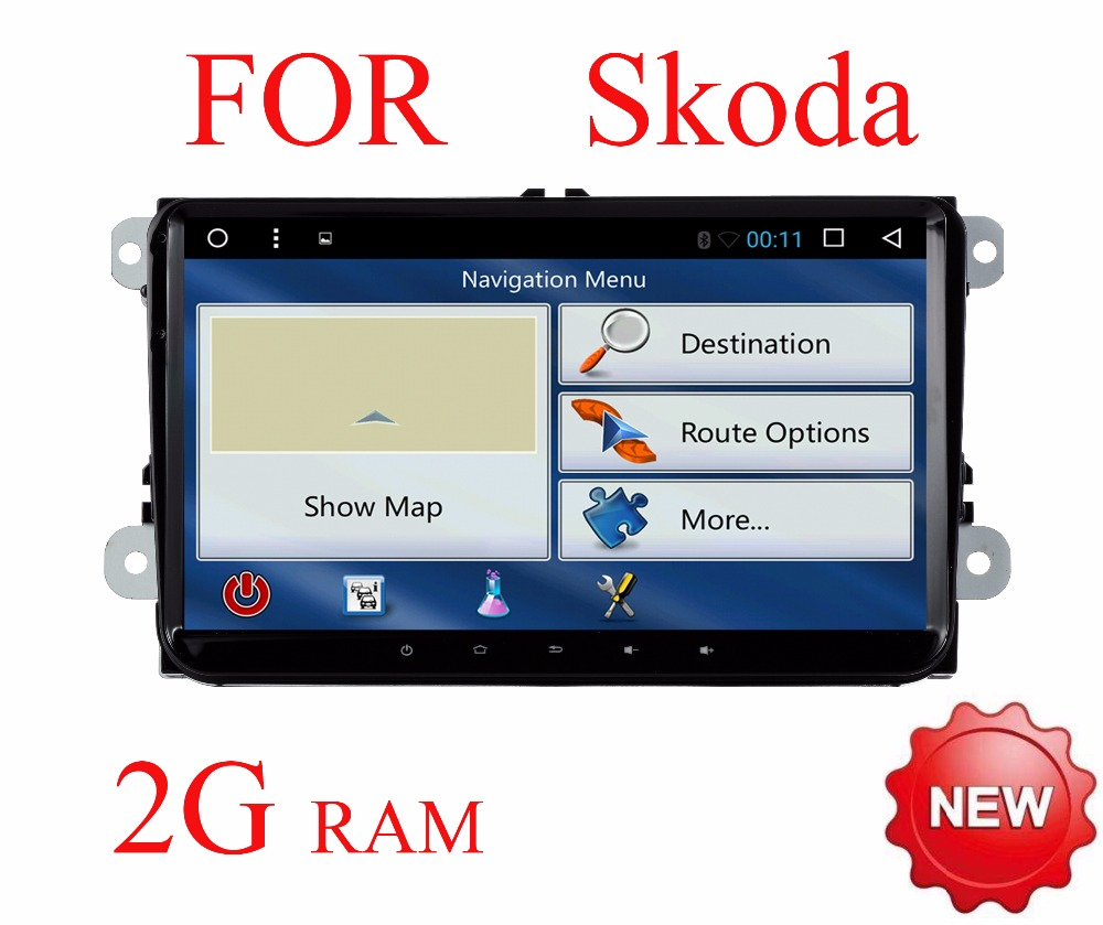 imágenes para Android 6.0 Del Coche DVD reproductor de Video para skoda Superb Octavia fabia rápido 2 A5 A7 Yeti Superb passat b5 B6 B7 radio Rds 4G Gps wifi